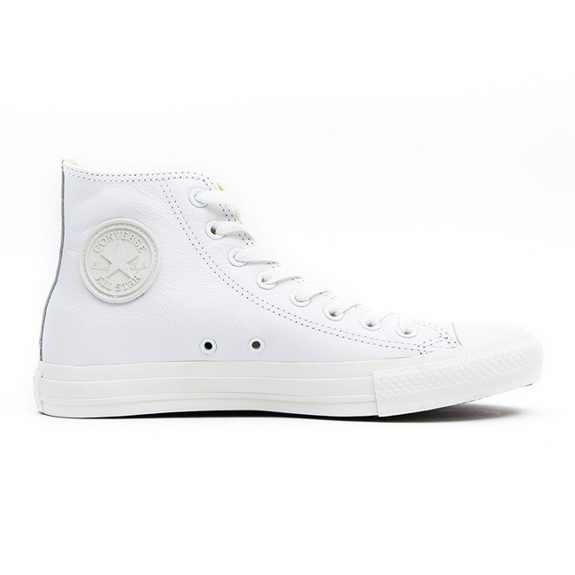 Converse All Star High Top White Mono Leather