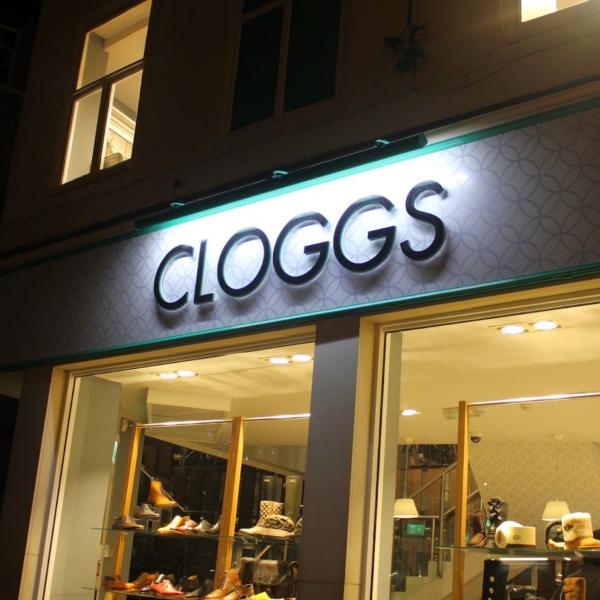 Cloggs storefront, Shrewsbury